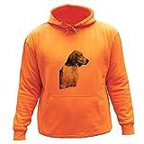 AtooDog Sudadera de Caza - Perro, Sabueso francés Tricolor (S, Naranja,30351)