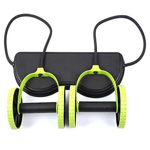 HUYHUY Abnehmen Rollenrad Rad Bauch Trainer Raddehnung Elastischer Widerstand Zugseil Werkzeug Für Bauchmuskeltrainer Übung-Green_Australia