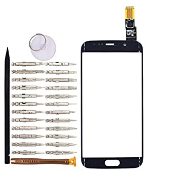 Goodyituo Touch Screen Glass Digitizer Replacement for Samsung Galaxy S6 edge/G925F/G925FQ/G925I/G925A/G925T/G925S/G9250 Blue