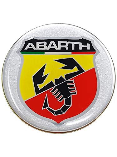 Abarth 21534 Stickers Pegatinas 3d escudo, diámetro 75 mm