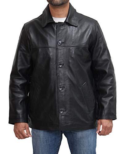 A to Z Leather Herren Leder Parka/Harrington Retro-Stil Ledermantel. Erhältlich in Schwarz, Braun und Marine