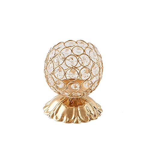 ZXTDD Taper Candelabras Holders Candlegold Candle Lantern Tea Light Crystal Candle Holder Votive Holder Wedding Candlestick Holder for Home Decor-Gold