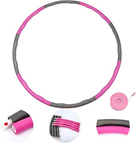 CYSHAKE Hula-Hoop Hula-Reifen, Abnehmbarer Übung Sportreifen, Wellenentwurf, Gewichtsverlust-Reifen, Bauchformung (1,2 kg), mit Regelmessung Gewichteter Fitness-Hula-Hoop