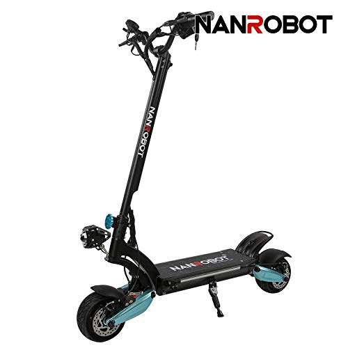 "NANROBOT Lightning Electric Scooter Foldable 8""Wide Wheel Evolution-1600W-48V 18Ah (Lightning Electric Scooter)"