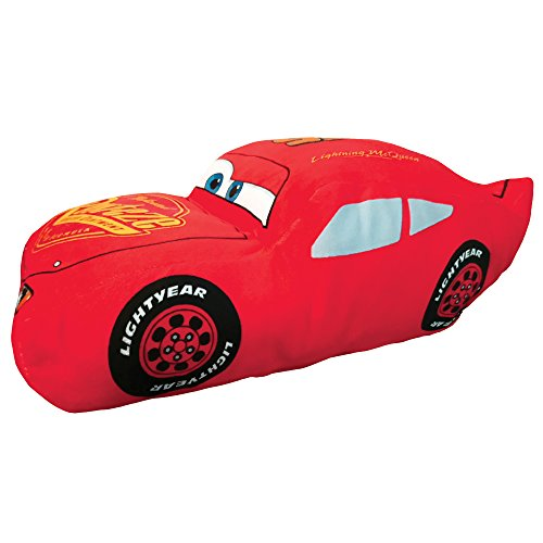 Disney Cars Rusteze 3D Kontourenkissen, Polyester, Rot, 44 x 24 cm