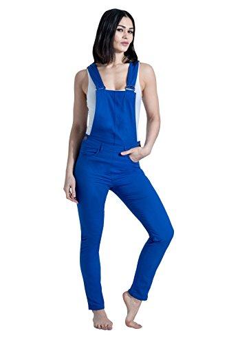 USKEES Slim Fit Latzhose - Blau (Coco Electricblue), Damen Bib Overalls, Gr. EU 36
