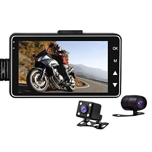 Cámara de Motocicleta de 3 Pulgadas 1080P HD DVR Motor Dash CAM con grabadora Trasera Delantera de Doble Pista Especial Electrónica de Motocicleta KY-MT18