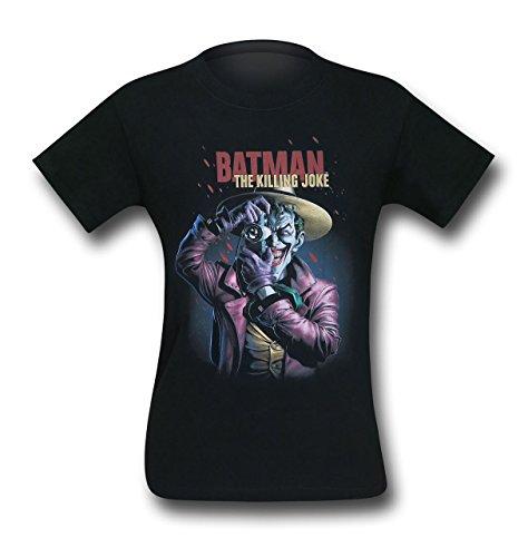 SuperHeroStuff Camiseta masculina The Coringa The Killing Joke Smile Poster, Preto, L