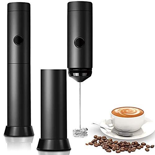 JINSE elektrische whisks, krachtige elektrische melkopschuimer roestvrij staal batterij aangedreven whisk whisk perfect voor latte koffie cappuccino