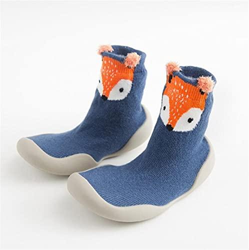 JKLO Zapatos para niños pequeños Zapatos de bebé Zapatos de Fox Tigre espesando Zapatos Calcetines Zapatos Calcetines de pie Estilo Animal 525 (Color : CYZZ00A 5, Size : 12 18 Months)