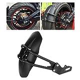 Parafango posteriore per moto, parafango posteriore in acciaio inossidabile per parafango posteriore adatto per la maggior parte dei motocicli (nero)