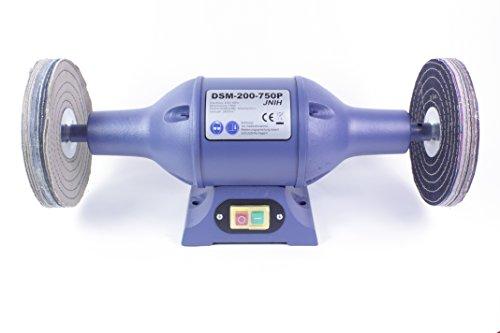 Polierbock, Poliermaschine,Schleifbock, Schleifmaschine, 200mm, 750W