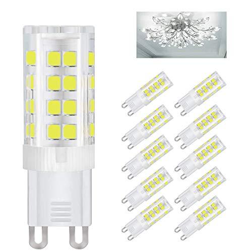 10 X G9 LED Lampen 5W Kambo, G9 LED Leuchtmittel Kaltweiß 6000K 420LM Ersatz 40W Halogenlampen 82Ra Energiespar 360° Abstrahlwinkel AC85-260 V Kein Flackern Kein Stroboskop Nicht Dimmbar