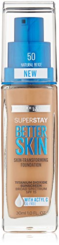 Maybelline New York Superstay Better Skin Foundation, Natural Beige, 1 Fluid Ounce by Maybelline New York