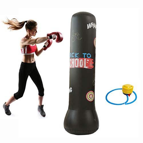 Boxsack Standboxsack Boxsack aufblasbar stehend Aufblasbarer Standboxsack Heavy Duty Punching Bag Freistehendes Aufblasbare Fitness Tumbler Säule Sandbag Stehen Turm-Tasche mit Fußluftpumpe Aufblasbar
