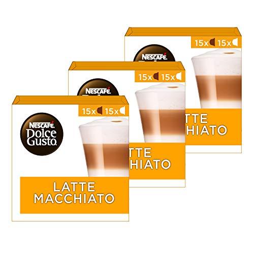 Nescafé Dolce Gusto capsules Latte Macchiato – voordeelverpakking – 90 koffiecups – geschikt voor 45 koppen koffie…