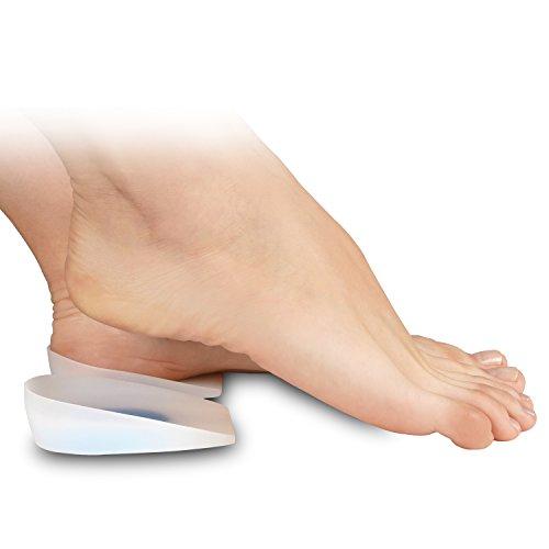 Taloneras de silicón Soles (Par) Con suaves cojines que ayudan aliviar el dolor de pie, espuelas de hueso, Fascitis plantar - Hipoalergenico, resistente a las manchas y al olor - Unisex (L / 39-40-41)