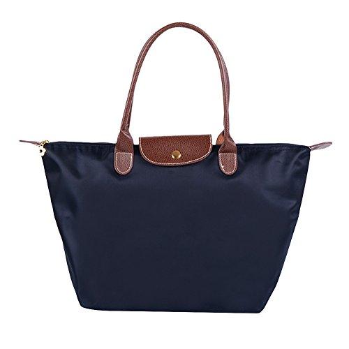 Fletion - Bolso de tela para mujer azul marino M:44 cm*30 cm*18 cm