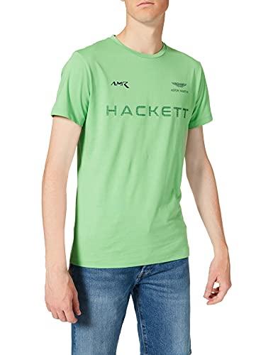 Hackett London AMR Hackett tee Camiseta, Verde 6gthypa, L para Hombre