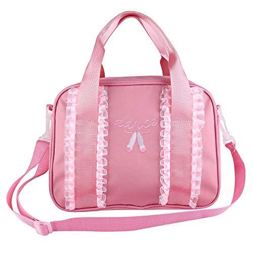 Mädchen Balletttasche Tanz Rucksack Kinderhandtasche einzelne Schulter Sport-Tasche Umhängetasche für Ballett, Tanz, Basketball(Pink)