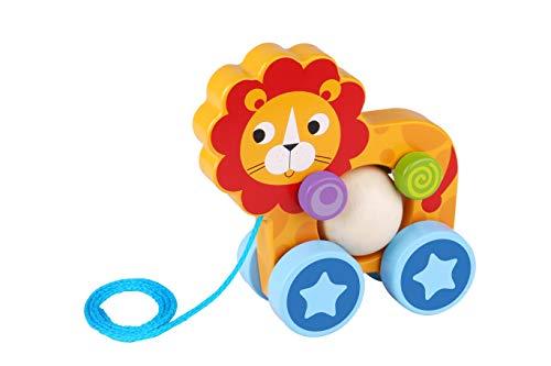 Tooky- Lion en Bois à Tirer, TKE005