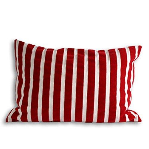 Riva Paoletti Zanzibar Stripe Cubiertas De Colchón, Rojo/Blanco, 40 X 60 Cm, algodón, 40x60cm