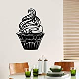 Adesivi murali per ragazze, dessert gelato gourmet torta ristorante fai da te parete bagno sfondo impermeabile regalo decor ufficio carta da parati adesivo casa arte famiglia adesivi porta 35x55 cm
