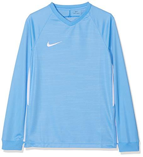 Nike Kinder Tiempo Premier Football Jersey Long Sleeved T-shirt, Blau (University Blue/White 412), XL