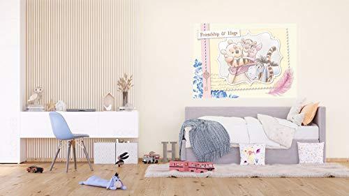 AG Design Winnie The Pooh Vintage Karte, Disney, Vlies Fototapete für EIN Kinderzimmer, 160 x 110 cm, FTDN M 5265, Mehrfarbig