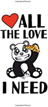 Notebook: Gamer Pizza Panda Love Heart Funny Gift 120 Pages, A4 (About 8,5X11 Inches / Letter), Blank, Diary