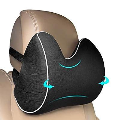 【Cómodas Reposacabezas Soporte】:- El feagar cojín cervical brinda suficiente apoyo al cuello y cabeza a través del curvo de la columna vertabral, alivia el dolor de la vertébra cervical y la presión de prolongada conducción o sentada. Haga su conducc...