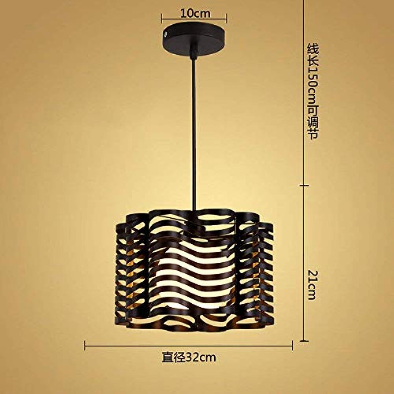 HBLJ  Chandelier Pendelleuchte Industrial Style Bar Lounge Schlafzimmerlampe Schwarz 9W Led 32  21Cm