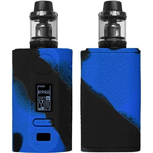 PhoneNatic Case kompatibel mit Vapor Storm Puma 200W - Hülle Silikon schwarz-blau Cover Tasche