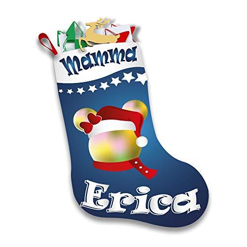 Altra Marca Calza Natalizia Personalizzata Porta Regali Epifania Topolino Natale con Nome