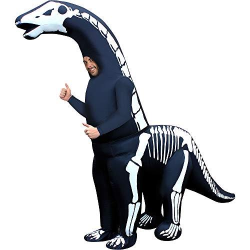 Morph Riesiges Aufblasbares Skelett Diplodocus Kostüm für Erwachsene, Dinosaurier Kostüm Herren Damen - Einheitsgröße