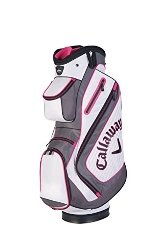 Callaway 2016 Chev Cart Bag, White/Charcoal/Pink