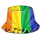 Sombrero Pescador Unisex,Orgullo de personas celebrando el Día Internacional de la comunidad Lgbt,Plegable Sombrero de Pesca Aire Libre Sombrero Bucket Hat para Excursionismo Cámping De Viaje Pescar