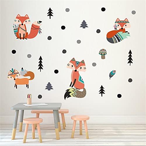 BOSUE SLLXG - Pegatinas decorativas para pared, diseño de zorro, multicolor