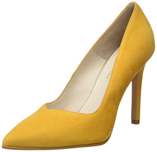 lodi Victory, Zapatos de tacón con Punta Cerrada para Mujer, Amarillo Safron, 38 EU