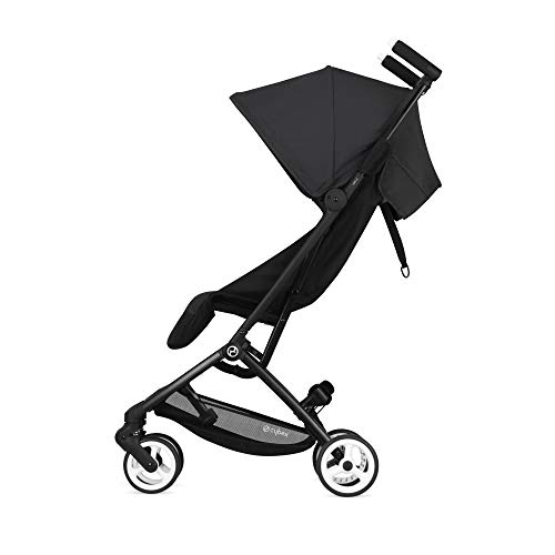 Cybex Libelle Stroller UltraLightweight Stroller Small Fold Stroller Hand Luggage Compliant Compact Stroller Fits Car Seats Sold Separately Infants 6 Months+, Deep Black