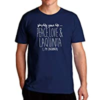 Eddany Simplify your life peace love and Laquinta - Tシャツ