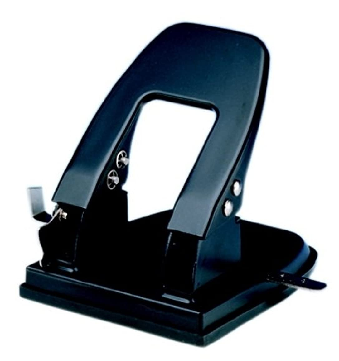 Charles Leonard 2 Hole Paper Punch, 3-1/8in Centers, 30 Sheet Capacity, Black,  (90228)