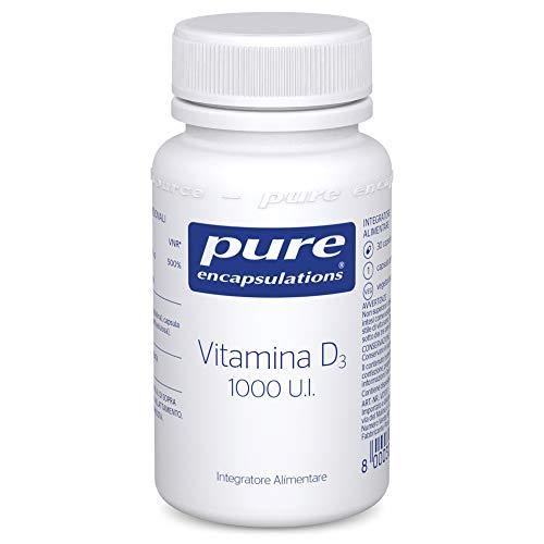 Pure Encapsulations - Vitamina D3 1.000 IU - Integratore Alimentare Ipoallergenico di Pura Vitamina D - 30 Capsule