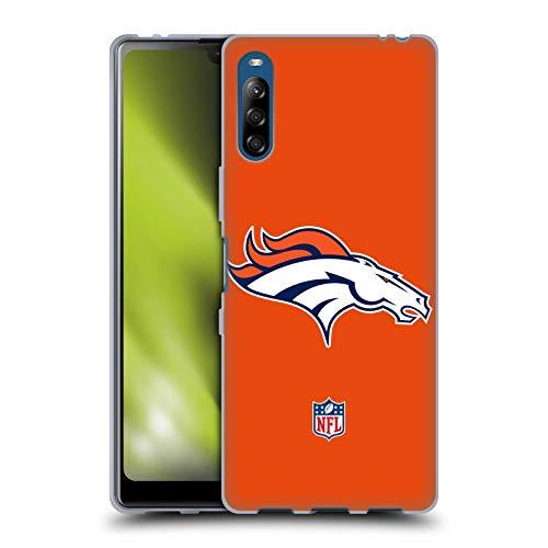 Head Case Designs Licenciado Oficialmente NFL Claro Logo de Denver Broncos Carcasa de Gel de Silicona Compatible con Sony Xperia L4