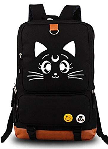 Bkckzzz Japanische Anime Cosplay Leinwand Bookbag Rucksack Umhängetasche Schultasche @ Sailor_Moon