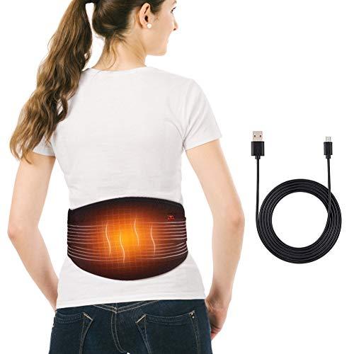 Doact Wärmegürtel Rücken,Heizkissen Gürtel für Rücken,Massagegürtel Taille mit Wärmefunktion,Wärme-Gürtel mit Rücken-Therapie, Heizkissen Bauch,Lendenwirbelsäule Stützgürtel für Männer und Frauen