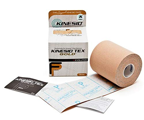 Kinesio Taping - Elastic Therapeutic Athletic Tape Tex Gold FP - Beige...
