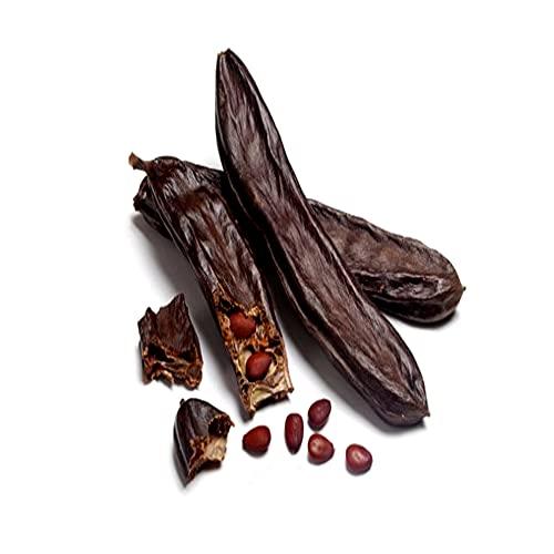 Algarroba 1kg, cruda sin gluten ecológica y antioxidante. Frutos secos sanos, saludables y naturales. Alimento energetico, rico en fibra y vitaminas A- B1-B2-B3 y D. Ideal para celiacos.
