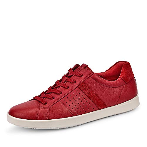 Ecco Damen Leisure Sneaker, Rot (Chili Red/Tomato 51389), 39 EU