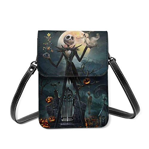 XCNGG Nightmare Before Christmas Cell Phone Purse Crossbody Bags Women Men Teen Small Wallet With Removable Shoulder Strap